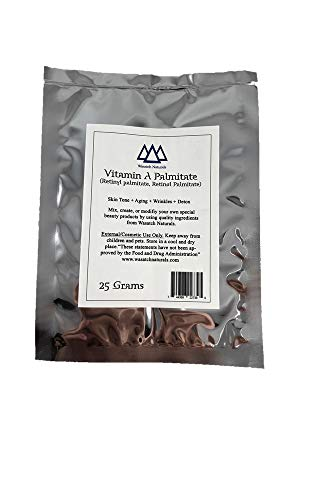 Vitamin A Palmitate Retinyl Retinol Powder 25 Grams Wasatch Naturals