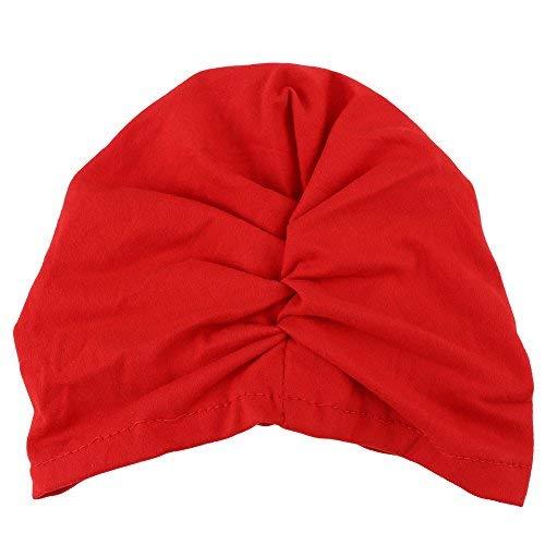 6 Colores Sombrero de Bebé Turbante Sombrero Súper Suave Sombrero de  Algodón Turbante Lindo(Rojo 4a58e0ce13d