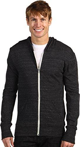 Alternative Men's Eco Zip Hoodie Sweatshirt, Eco Black, Medium