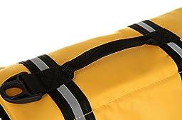 ZM PET Dog Life Jacket Pet Life Vest Saver Dog Swimming Preserver Safety Yellow XS-XL (XS)