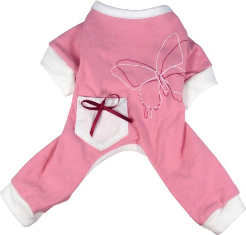 Dogit Style Butterfly Dog Pyjamas, Medium, Pink, My Pet Supplies