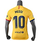 メッシ サッカーユニフォーム FCバルセロナ アウェイ 黄色 緑 背番号10 レプリカサッカーユニフォーム 子供用 ジュニア BRUGGE オリジナルセット商品