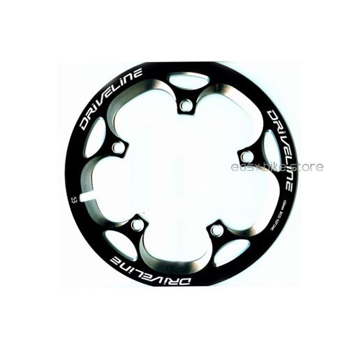 Driveline Crank Chain Guard Road Bike 50T BCD 130 Black