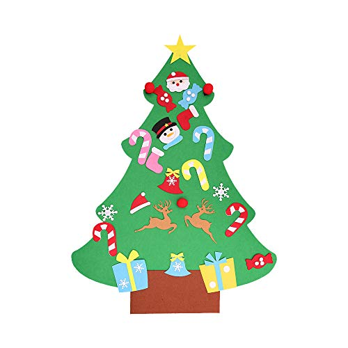 (Kecar DIY Artificial Christmas Pine Tree Set with Ornaments for Kids, Xmas Gifts, Door Wall Hanging Nice Christmas Wall or Door Decorations for Outdoor & Indoor [Ship from USA Directly])