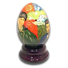 Van Gogh Hand Painted Reuge Musical Egg, Flawless with 18 Note Tune-In the Good Old Summertime