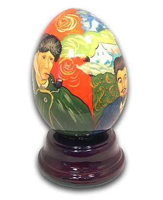 Sugar Plum Fairy Musical Egg (Van Gogh Hand Painted Reuge Musical Egg, Flawless - Dance of the Sugar Plum Fairy (Nutcracker Suite))