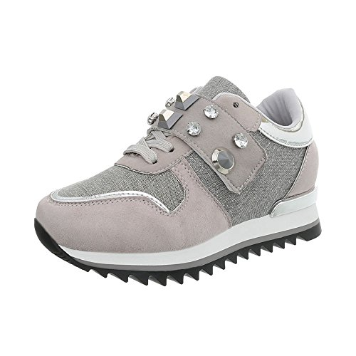 Design Ital Scarpe Zeppa 126 Gris Clair Sneakers Sneaker G Donna High da BddW7pqUr