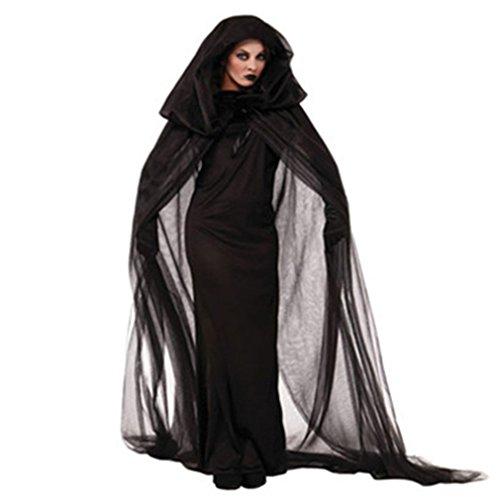 Mystical Sorceress Costume (Bysun Halloween Witch Costumes for Women Headwear & Hats Cosplay (Medium))