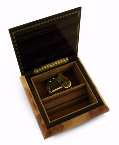 Astounding 22 Note Wedding Rings on Ring Bearer Pillow Music Jewelry Box - All I Ask Of You - SWISS by MusicBoxAttic (Image #2)