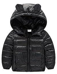 JERY Baby Girls Boys Winter Light Weight Down Jacket Packable Hoodie Outerwear Coats