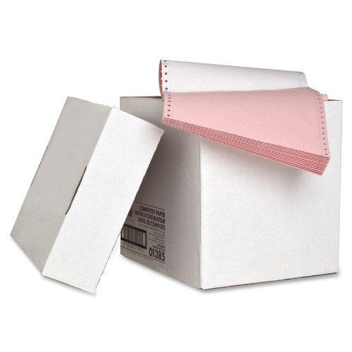 Sparco SPR01385 Computer Paper, Plain, 3 Parts, 9-1/2 x 11 1200 Sets, White/Yellow/Pink Sparco Products 269095