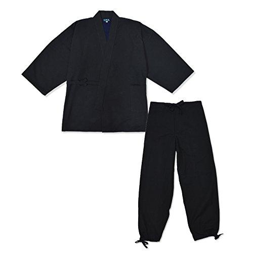 wasuian Men's Samue Working Clothes Suede Lined Inside Large Black
