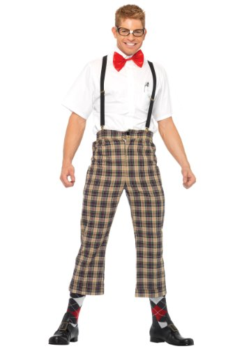 Flannel Nerd Costume (Mens Nerdy Nerd Costume X-Large)