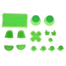 Generic L2 R2 L1 R1 Thumbstick Joystick D-pad Anolog Cap Button Mod Game Set Bullet Kit for Sony PS4 Controller Green