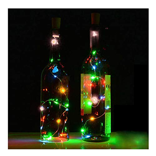 Kanzd Solar Wine Bottle Cork Shaped String Light 8 LED Night Fairy Light Lamp (10 -