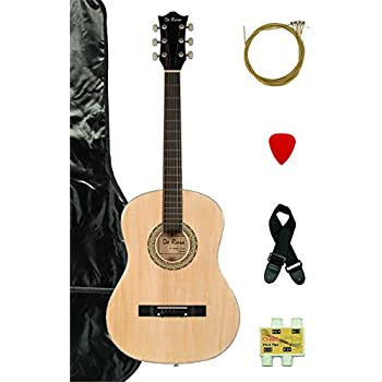 38 inch student beginner natural acoustic guitar with carrying case accessories. Black Bedroom Furniture Sets. Home Design Ideas