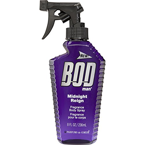 BOD Man Fragrance Body Spray, Midnight Reign, 8 Fluid Ounce