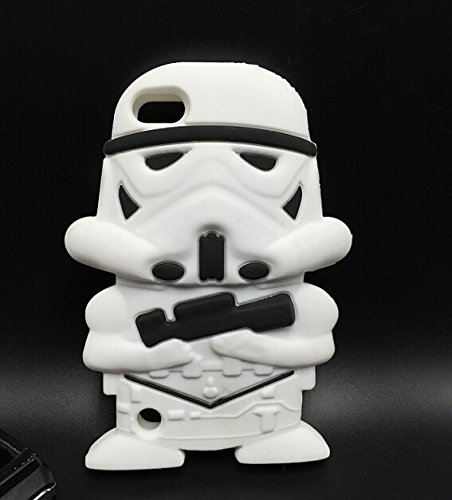 Bukit Cell Bundle 3 items;3D Cartoon Hero Star Wars Collector Slicone Cute Lovely Fun Case Protector Cover (for Ipod Touch 6 /5th -Strom trooper) , Screen protector and Bukit Cell Metallic stylus pen