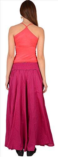 SNS - Pantalones largos estilo Palazzo, de algodón puro morado