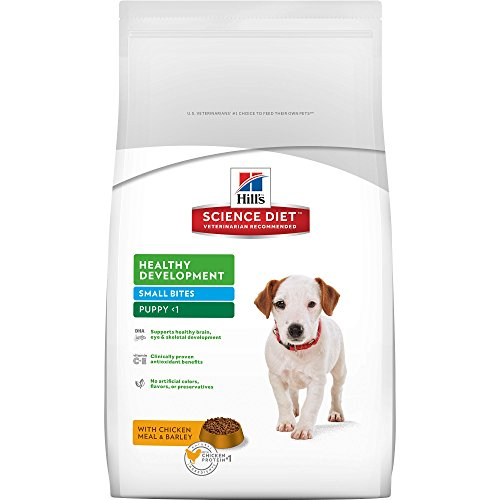 Hill's Science Diet Puppy Food, Healthy Development Small Bites with Chicken Meal & Barley Dry Dog Food, 15.5 lb Bag Healthy Growth Puppy Food