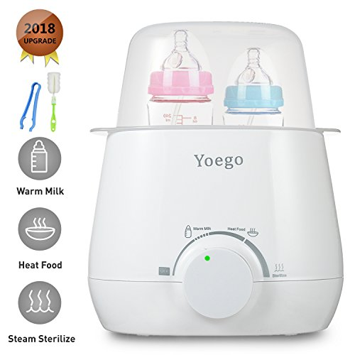 Yoego 3-in-1 Baby Bottle Warmer,Baby Food Warmer and Baby Bottle Sterilizer with Accurate Temperature Controls, Fit Most Brands Baby Bottles