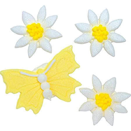 Lemon Yellow Butterfly And Daisy S Sugarcraft Cake Toppers