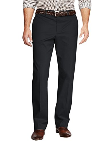 Casual Black Pants (Match Men's Straight-Fit Work Wear Casual Pants(36W x 32L, 8104 Black))