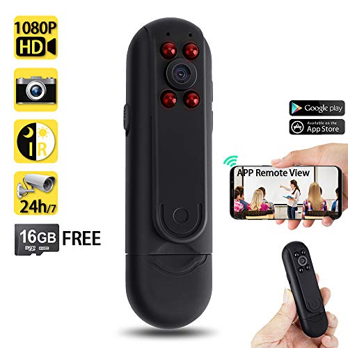 WISEUP 16GB 1920x1080P HD WiFi Network Meeting Recorder Mini DV Camcorder Motion Detector Camera Support iPhone Android APP Remote View and Control