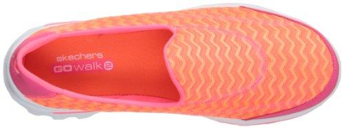 Skechers Performance Womens Go Walk 2 Chevron Walking Shoe Rosa Caldo / Arancio