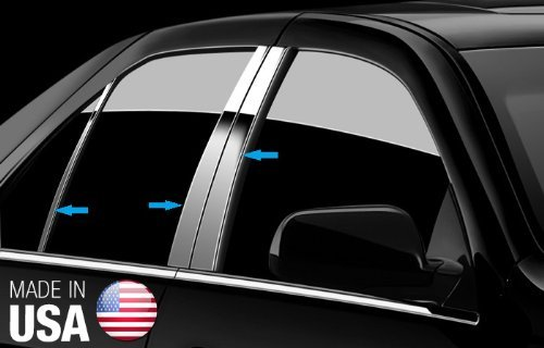 Made in USA Works With 04-08 Nissan Maxima 6 PC Stainless Steel Chrome Pillar Post Trim