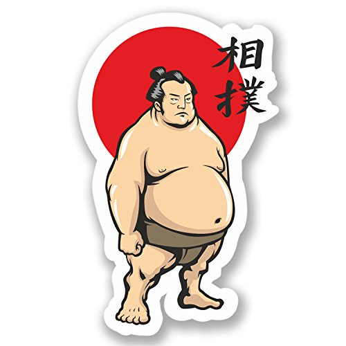 2 x Sumo Wrestler Vinyl Stickers