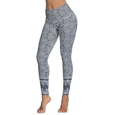 Women's Printed High Waist Leggings Full-Length Yoga Thin Capris Pants S