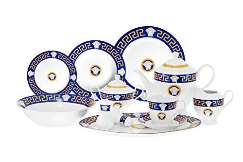SMCS G1437-49 Greek Key Design Dinner Set 8, Service for 8 P