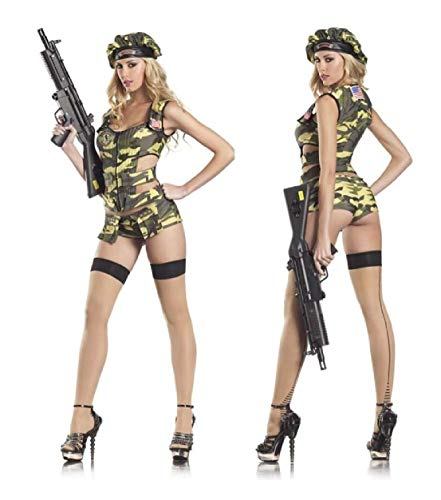 Army Brat Sexy Adult Womens Costume Military Camo Halloween Outfit