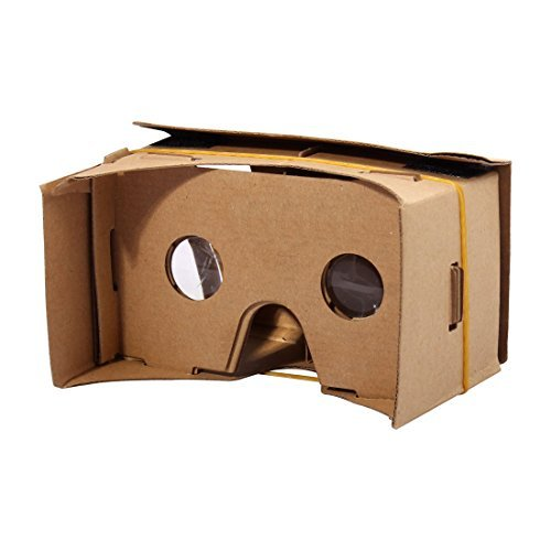 DealMux Smartphone Cardboard Kit DIY 3D VR Virtual Reality Paper Viewing Glasses 6 -