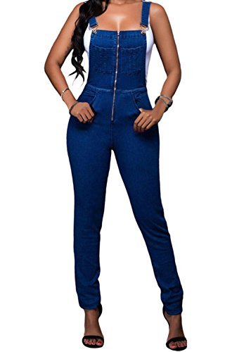 BYY Trendy Denim Wash Overall(Size,L) (Old Navy Denim Carpenter Pants)