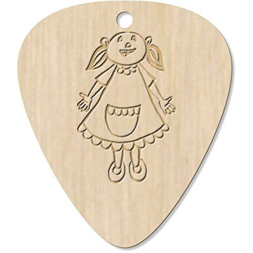 7 x 'Young Girl In Apron' Guitar Picks / Pendants (GP00000996)