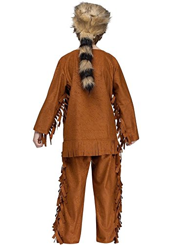 (Fun World Little Girl's Frontiersman Child Costume Childrens Costume, Multi,)