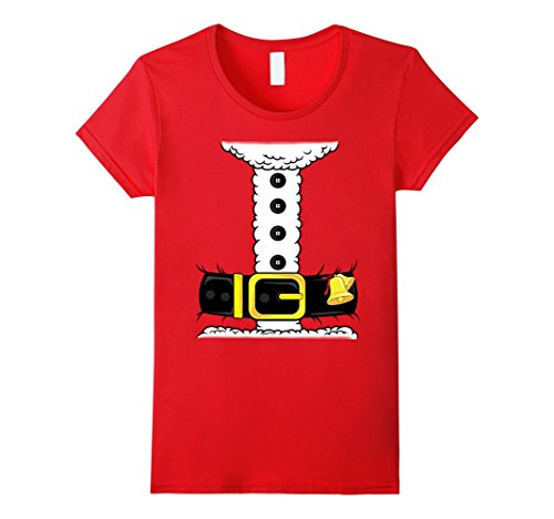 Sexy Santa Dress Up (Womens Sexy Santa Costume - Santa Suit Christmas Santa T-Shirt XL Red)