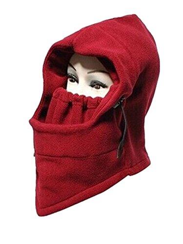 [Ericoco Adult's Half Face Mask Fleece Warmer Windproof Sandproof hat] (Black Russian Male Adult Costumes)