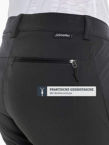 Schöffel Pants Ascona Zip Off, leichte und komfortable Damen Hose mit optimaler Passform, flexible Outdoor Hose für Frauen Damen, asphalt, 40 6