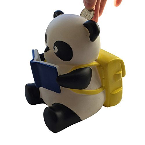 spark-toys-games-panda-bear-piggy-bank-with-yellow-back-pack-and-book