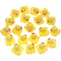 MYLIFEUNIT Mini Yellow Rubber Bath Ducks for Child 20pcs/set