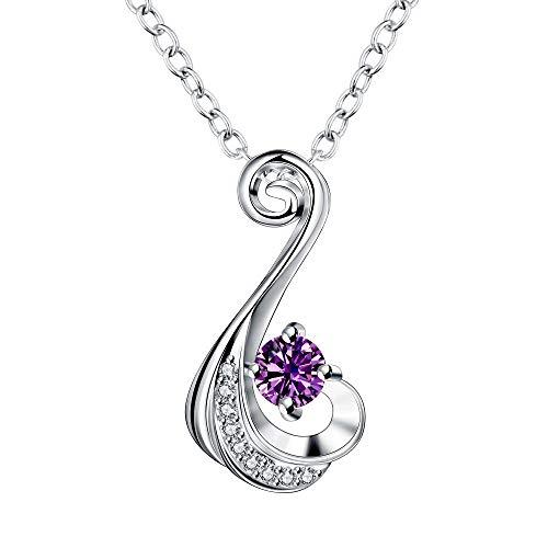 MYYQ. Women Necklace Pendant,Fashion Necklace Platinum Crystal Diamond Classic Simple Valentine Zircon Pendant Jewelry
