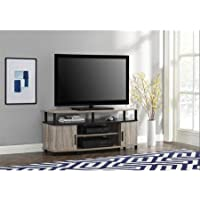 Premium Tv Stand for Flat Screens Wood Carson Console Furniture and Entertainment for 50 Inch (Sonoma Oak)