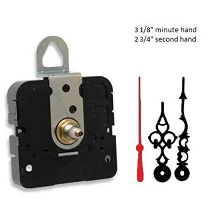 7//16 Threaded Shaft for dials up to 1//4 Thick, A Hands with Gold Second Hand Choose Your Hands and Size USA Made Takane Quartz Clock Movement Mechanism