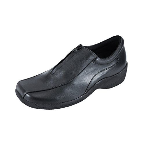 24 Hour Comfort  Kathy (1014) Women Wide Width Comfort Slip-On Shoes Black 11 by 24 Hour Comfort