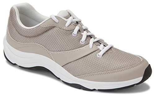 Vionic Women's Action Kona Lace-up Walking Fitness Shoes - Ladies Sneakers with Concealed Orthotic Arch Support Grey Multi 7 W US ()