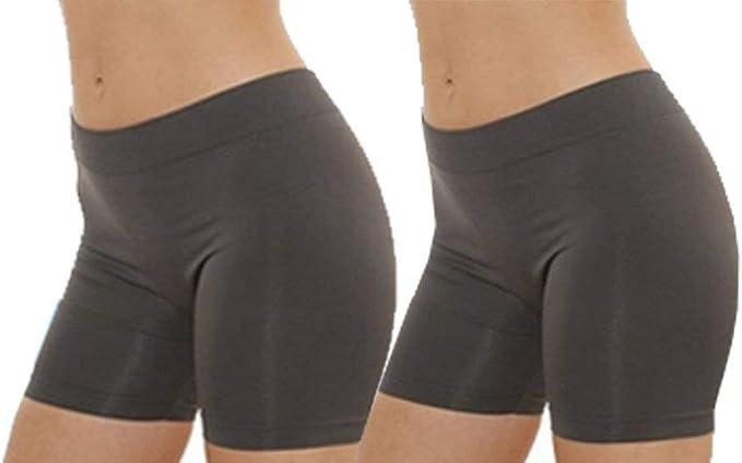 MOPAS Womens 2 Pack Seamless Stretch Yoga Exercise Shorts