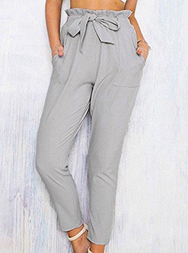Donna Autunno Primavera Skinny-Pantaloni Di Colore Solido Leggings Pants Adatti I Pantaloni Alta Della Slim Vita Casual Una Cintura Pants Avere